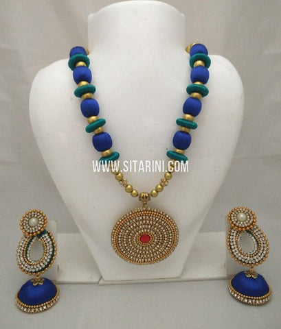 Silk Thread Jewelry Sets-Sitarini-SITSTJS185