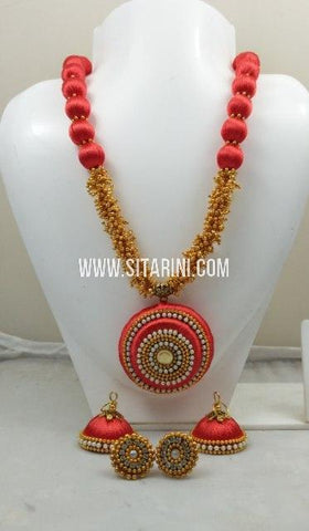 Silk Thread Jewelry Sets-Sitarini-SITSTJS199