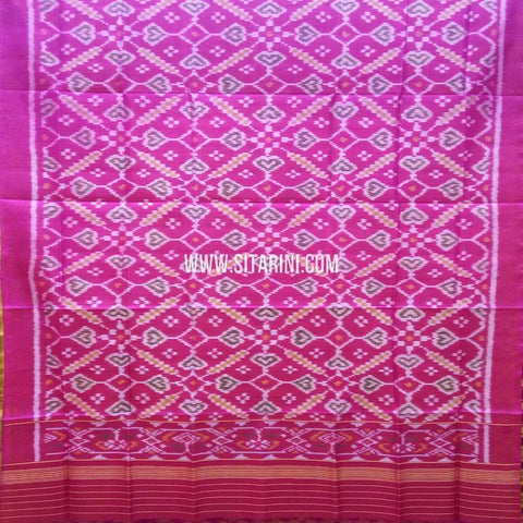 Single Ikkat Patola Silk Dupatta-Multicolor-Sitarini-SITPAD321