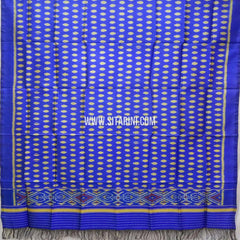 Single Ikkat Patola Silk Dupatta-Multicolor-Sitarini-SITPAD323