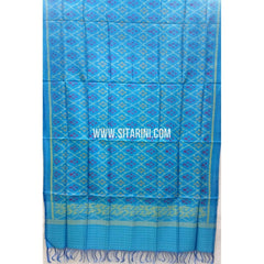 Single Ikkat Patola Silk Dupatta-Multicolour-Sitarini-SITPAD266