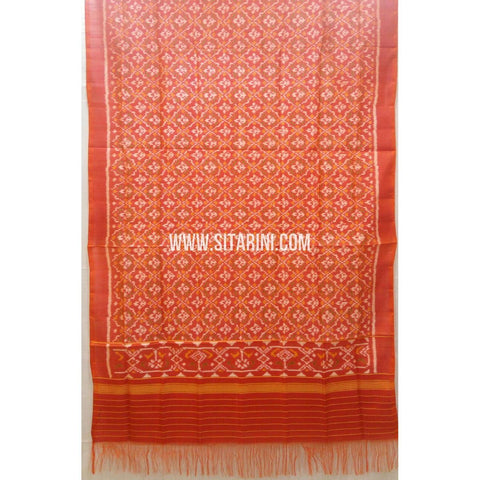 Single Ikkat Patola Silk Dupatta-Multicolour-Sitarini-SITPAD268