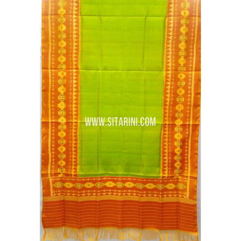 Single Ikkat Patola Silk Dupatta-Multicolour-Sitarini-SITPAD290