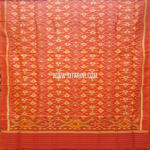 Single Ikkat Patola Silk Dupatta-Multicolour-Sitarini-SITPAD296