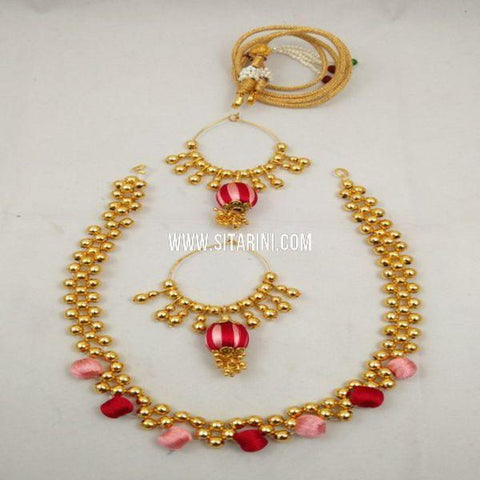 Thread Jewellery Sets-Silk-Sitarini-SITSTJS154