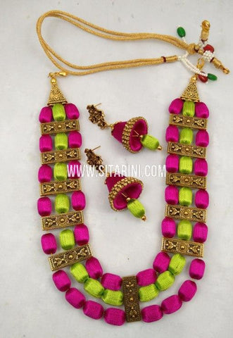 Thread Jewelry Sets-Silk-Sitarini-SITSTJS201