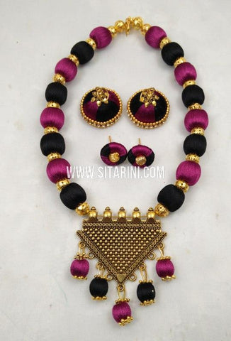 Thread Jewelry Sets-Silk-Sitarini-SITSTJS202
