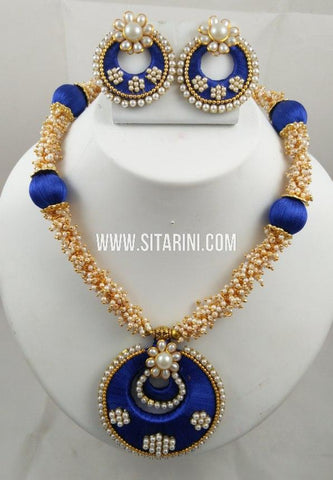 Thread Jewelry Sets-Silk-Sitarini-SITSTJS205