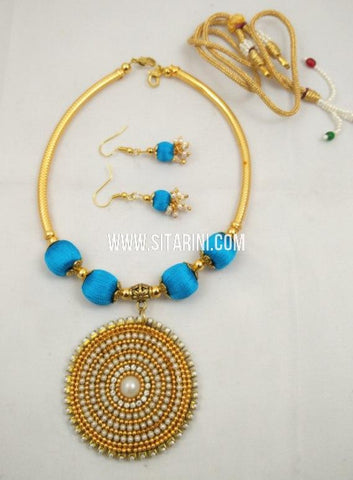 Thread Jewelry Sets-Silk-Sitarini-SITSTJS214