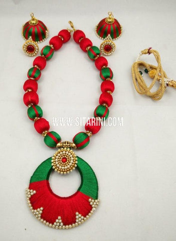 Thread Jewelry Sets-Silk-Sitarini-SITSTJS217