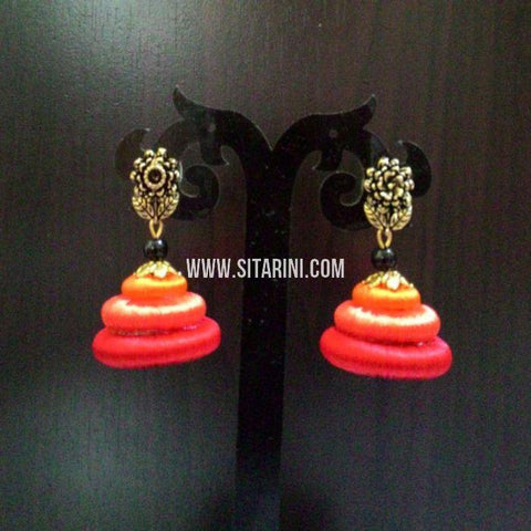 Thread Jhumkas-Silk-Multicolor-Sitarini-SITSTJ151
