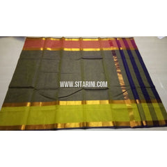 Uppada Cotton Saree-Bottle Green-Sitarini-USRHUCS158