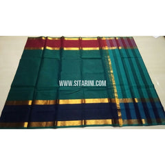 Uppada Cotton Saree-Green-Sitarini-USRHUCS151