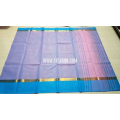 Uppada Cotton Saree-Light Blue-Sitarini-USRHUCS112