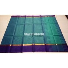 Uppada Cotton Saree-Light Blue-Sitarini-USRHUCS120
