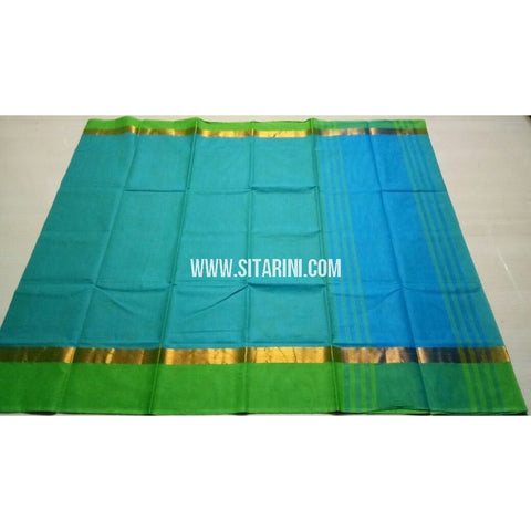 Uppada Cotton Saree-Light Blue-Sitarini-USRHUCS131
