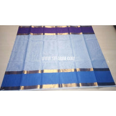 Uppada Cotton Saree-Light Blue-Sitarini-USRHUCS143