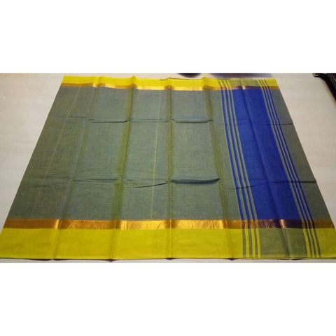 Uppada Cotton Saree-Light Green-Sitarini-USRHUCS106