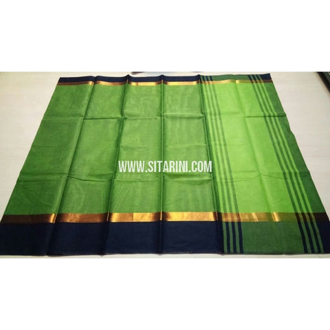Uppada Cotton Saree-Light Green-Sitarini-USRHUCS116