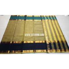 Uppada Cotton Saree-Light Yellow-Sitarini-USRHUCS147