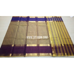 Uppada Cotton Saree-Light Yellow-Sitarini-USRHUCS152