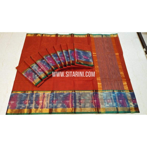 Uppada Cotton Saree-Multicolour-Sitarini-SITUCS127