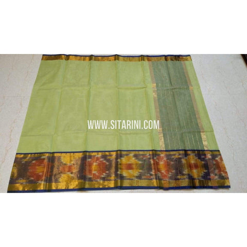 Uppada Cotton Saree-Pista Green-Sitarini-SITUCS128