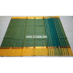 Uppada Cotton Saree-Pista Green-Sitarini-USRHUCS127