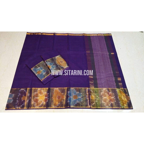 Uppada Cotton Saree-Purple-Sitarini-SITUCS141
