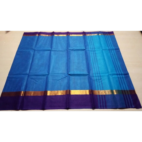 Uppada Cotton Saree-Sky Blue-Sitarini-USRHUCS108