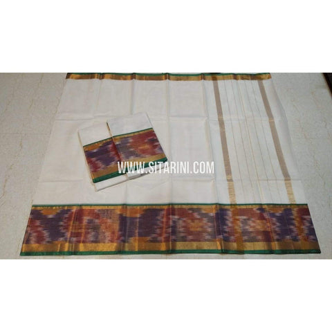 Uppada Cotton Saree-White-Sitarini-SITUCS124