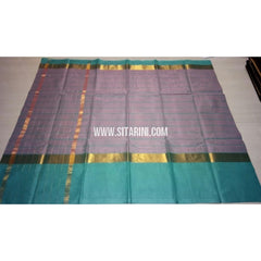 Uppada Cotton Saree with Big Border-Light Purple-Sitarini-USRHUCS199