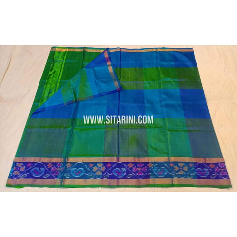 Uppada Pattu Saree-Big Checks-Ikkat Border-ULVHUPS117