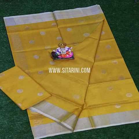 Uppada Pattu Saree-Yellow-Sitarini-SITUSS300
