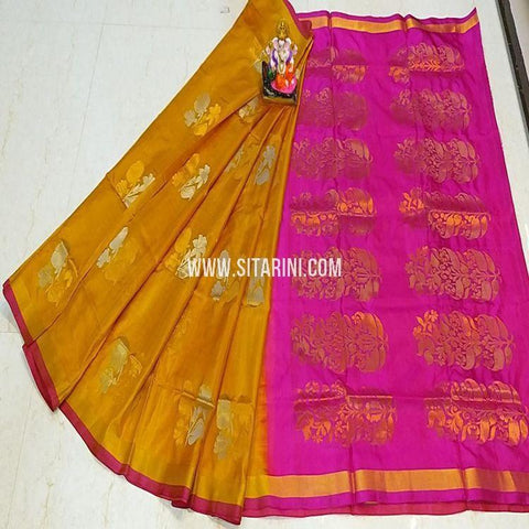 Uppada Pattu Saree-Yellow-Sitarini-SITUSS336