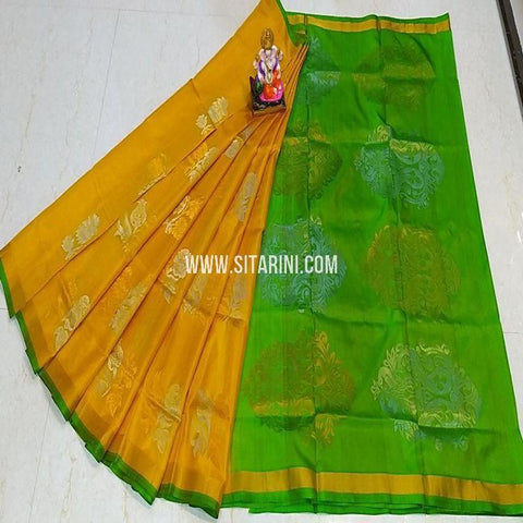 Uppada Pattu Saree-Yellow-Sitarini-SITUSS340
