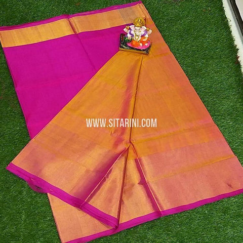Uppada Pattu Saree-Yellow-Sitarini-SITUSS355