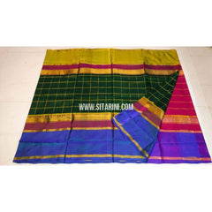 Uppada Pattu Sarees Checks-Multicolor-Sitarini-UMKHUSS117