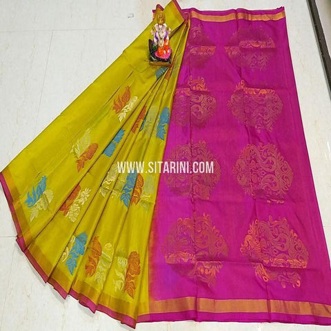 Uppada Saree-Pattu-Yellow-Sitarini-SITUSS337