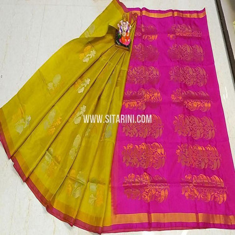 Uppada Saree-Pattu-Yellow-Sitarini-SITUSS341