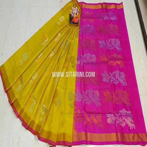 Uppada Saree-Silk-Yellow-Sitarini-SITUSS339