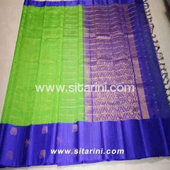 Uppada Silk Saree-Light Green-Sitarini