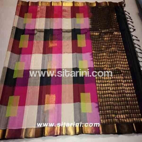 Uppada Silk Saree-Multicolor-Sitarini