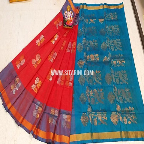 Uppada Silk Saree-Red-Sitarini-SITUSS350
