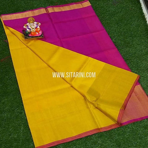 Uppada Silk Saree-Yellow-Sitarini-SITUSS353