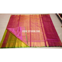 Uppada Tissue to Pattu Combination Saree with Pattu Border-Sitarini-USRHUPS189