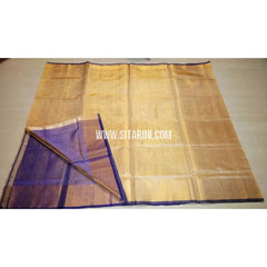 Uppada Tissue to Pattu Combination Saree with Pattu Border-Sitarini-USRHUPS190