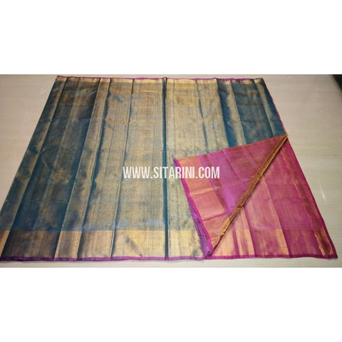Uppada Tissue to Pattu Combination Saree with Pattu Border-Sitarini-USRHUPS192