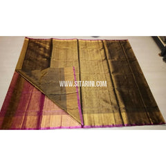 Uppada Tissue to Pattu Combination Saree with Pattu Border-Sitarini-USRHUPS201
