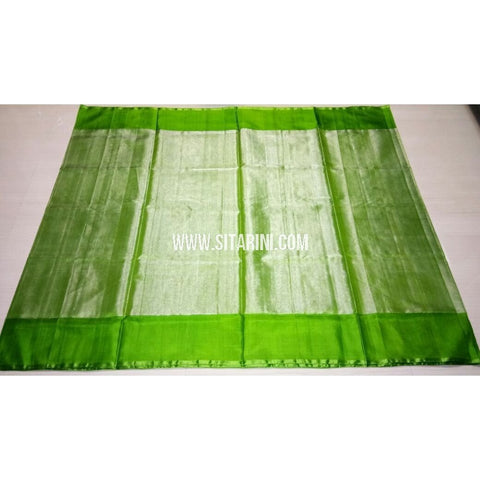 Uppada Tissue to Pattu Combination Saree with Pattu Border-Sitarini-USRHUPS207